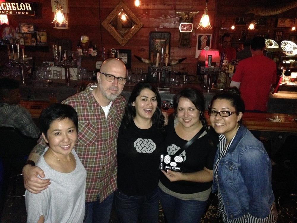 From Left: Lynne Weaver, Steve Skorupa (Owner of The Glendale Tap), Three Weavers Fan, Alexandra Nowell, and a Three Weavers Fan.