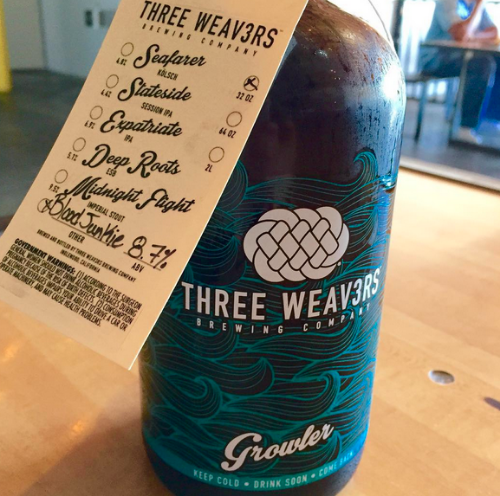 THREE WEAVERS GROWLER