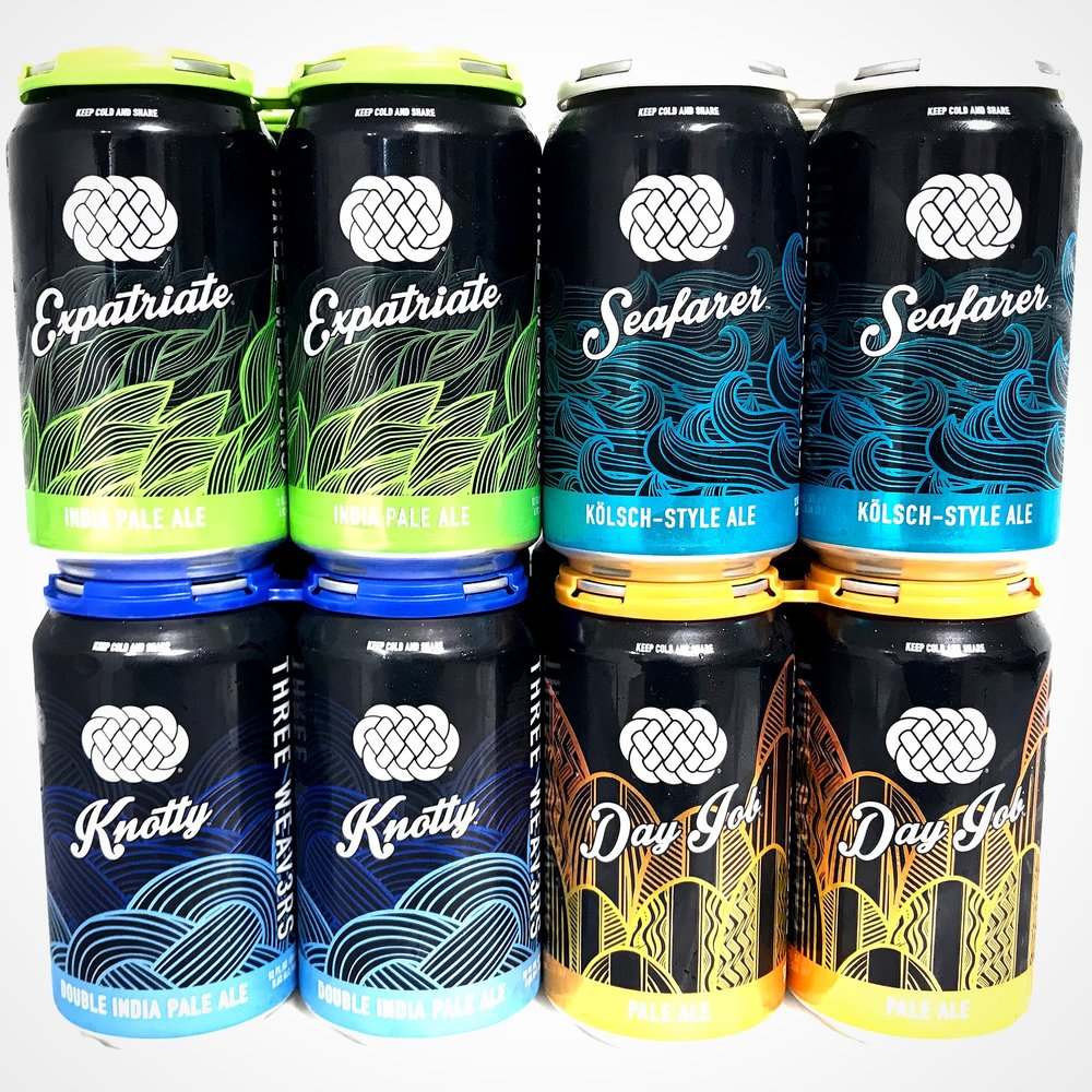 THREE WEAVERS CORE BEERS - 6-PACK CAN FORMATS