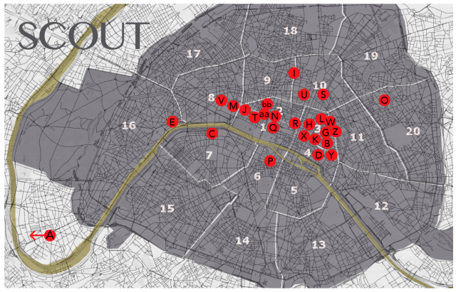 Scout Paris map by Carl Adelson