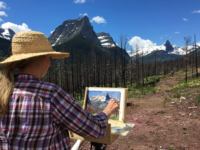 Painting  in Glacier National Park