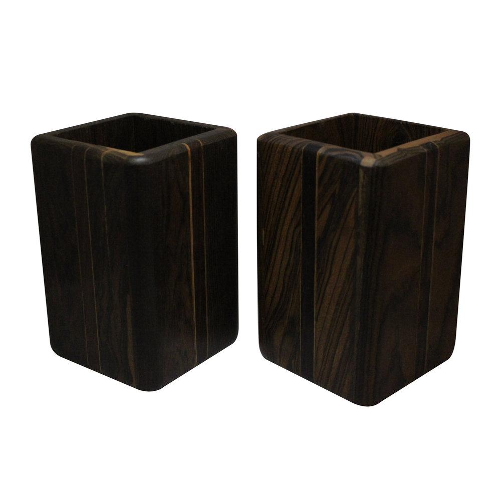 Cajas de Don Shoemaker. Elaboradas en maderas tropicales.