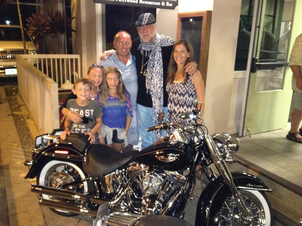 Mick Fleetwood with Harley #1 family