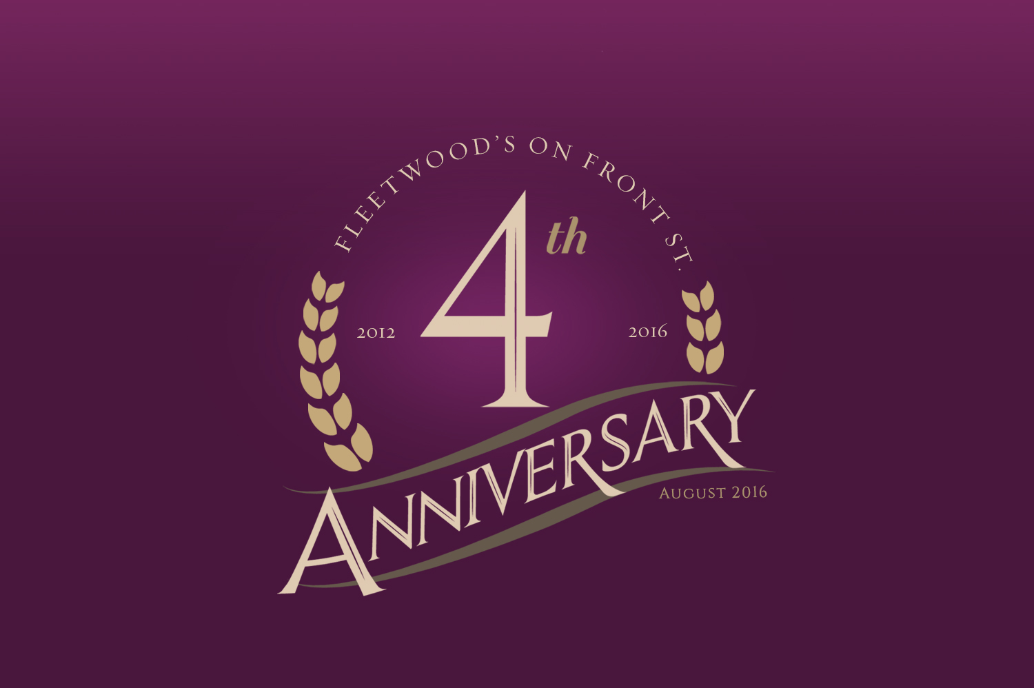 4th anniversary party fleetwood s on front st