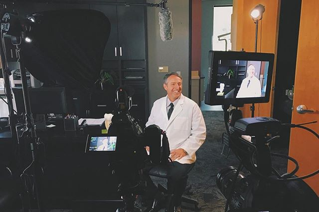 We had a blast today shooting an interview with Dr. Belden about teeth sensitivity. #dentist #video #filmmaking #vsco #arizona #filmmaker #dp #canon #fiilex @smallhd #production #director #videographer #scottsdale