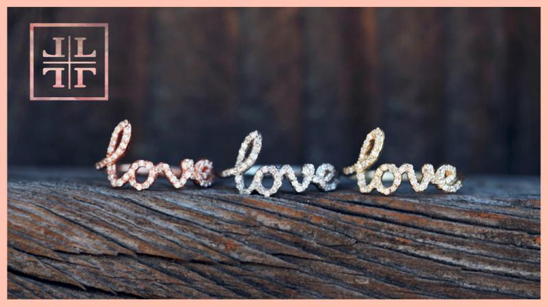 Diamond LOVE Rings