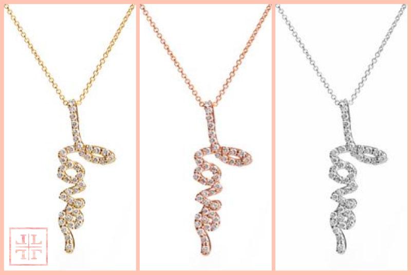 Diamond LOVE Necklaces