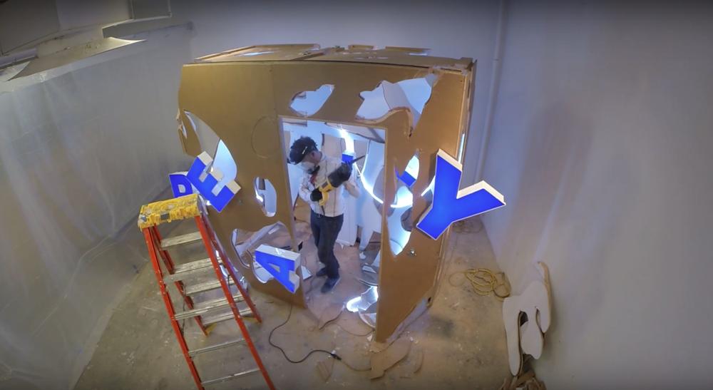 """""""GALLERY 3AE (in progress)"""" still, 2018"""
