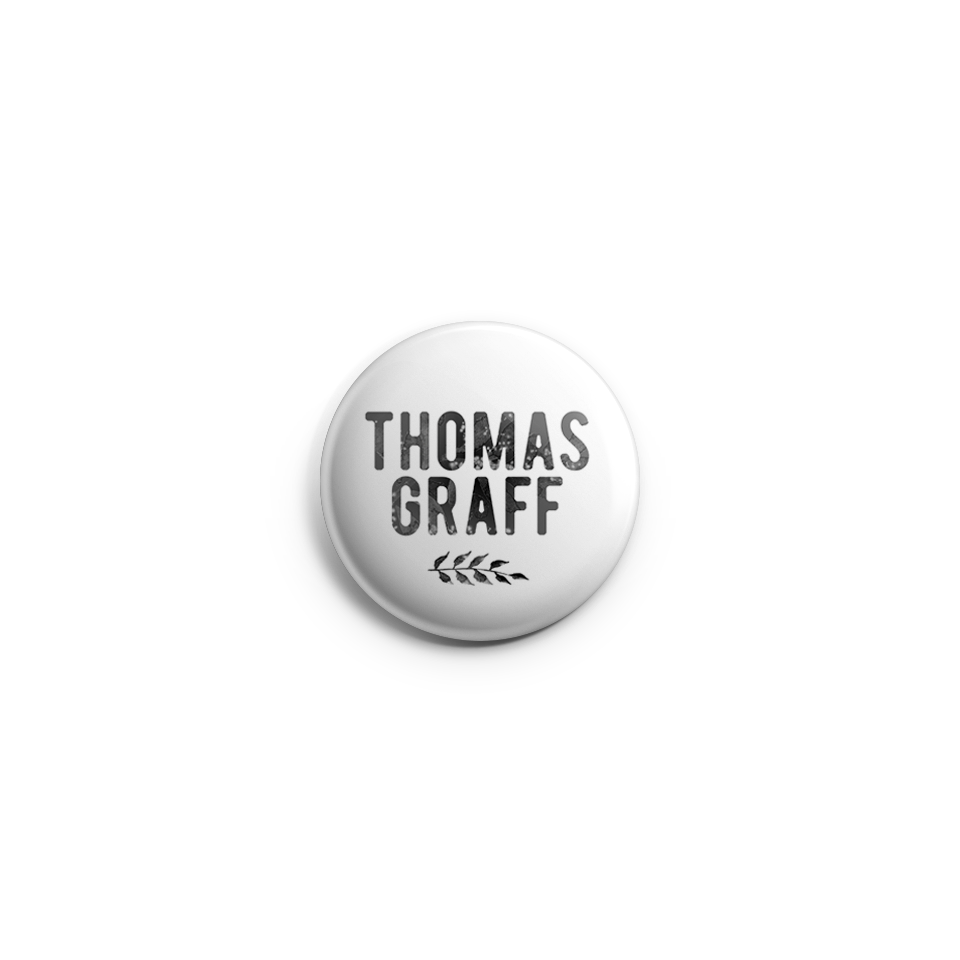 "Thomas Graff  ""Make It Easy"" Vintage Button by RoMillion $4"