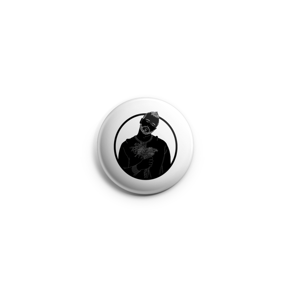 "Thomas Graff ""Make It Easy"" Black Silhouette Button by RoMillion $4"