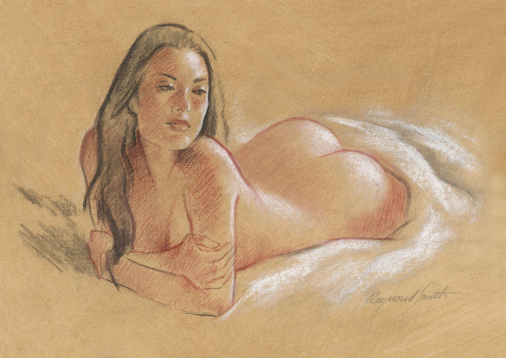 "Friday Afternoon     Pastel & Charcoal   12"" X 16""   2012  Model:  Amanda Greer"