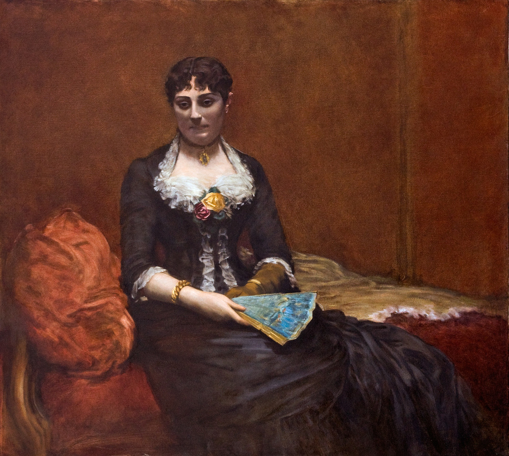 "Mme Leon Maitré   after  Fantin Latour     Oil  33"" X 30""   2004 Painted from the original at the Brooklyn Museum of Art"