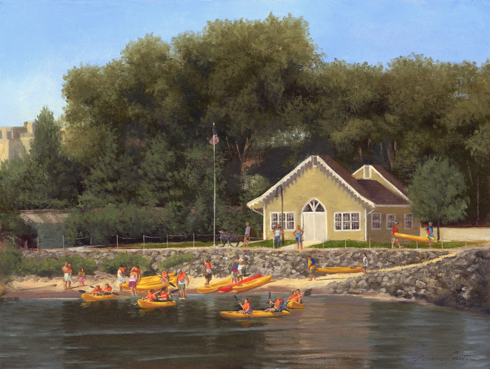 "Kayaking Day     Oil/Canvas   18"" X 24""   2013  Collection of Irena and Jon Miller"