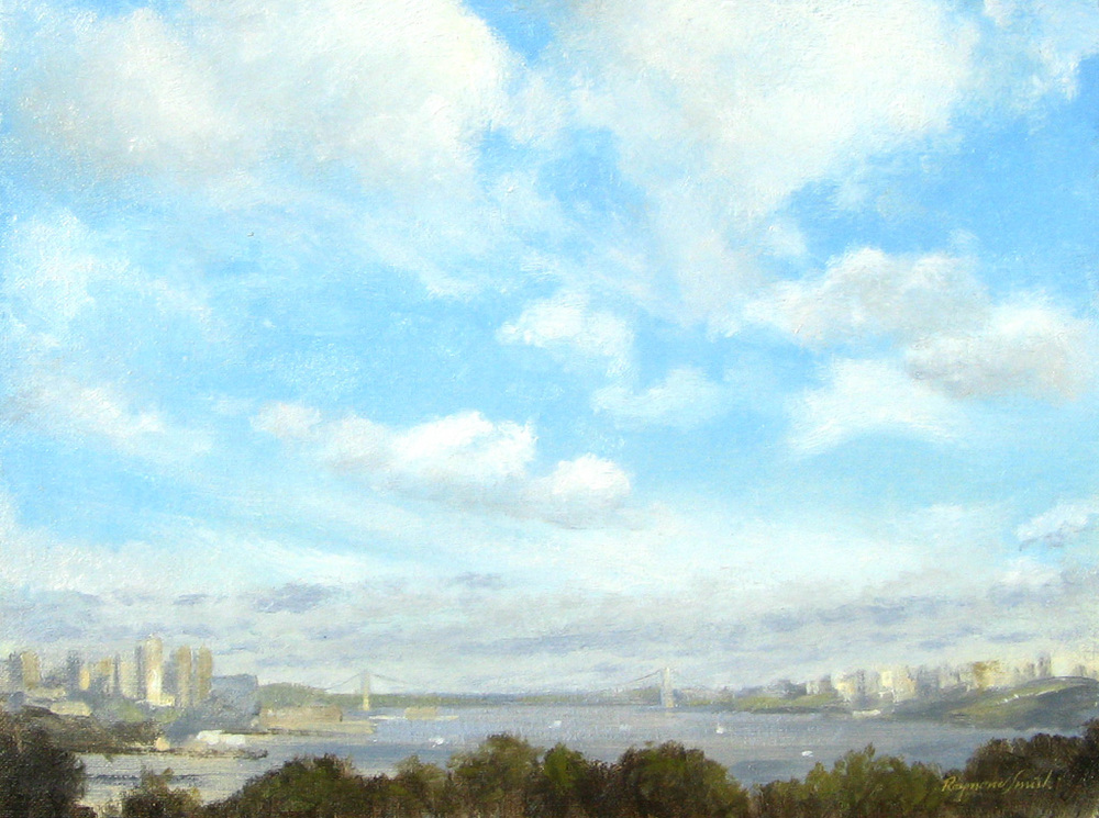 "Cloud Study     Oil/Canvas   12"" X 16""   2006 Collection of Barbara Gross"