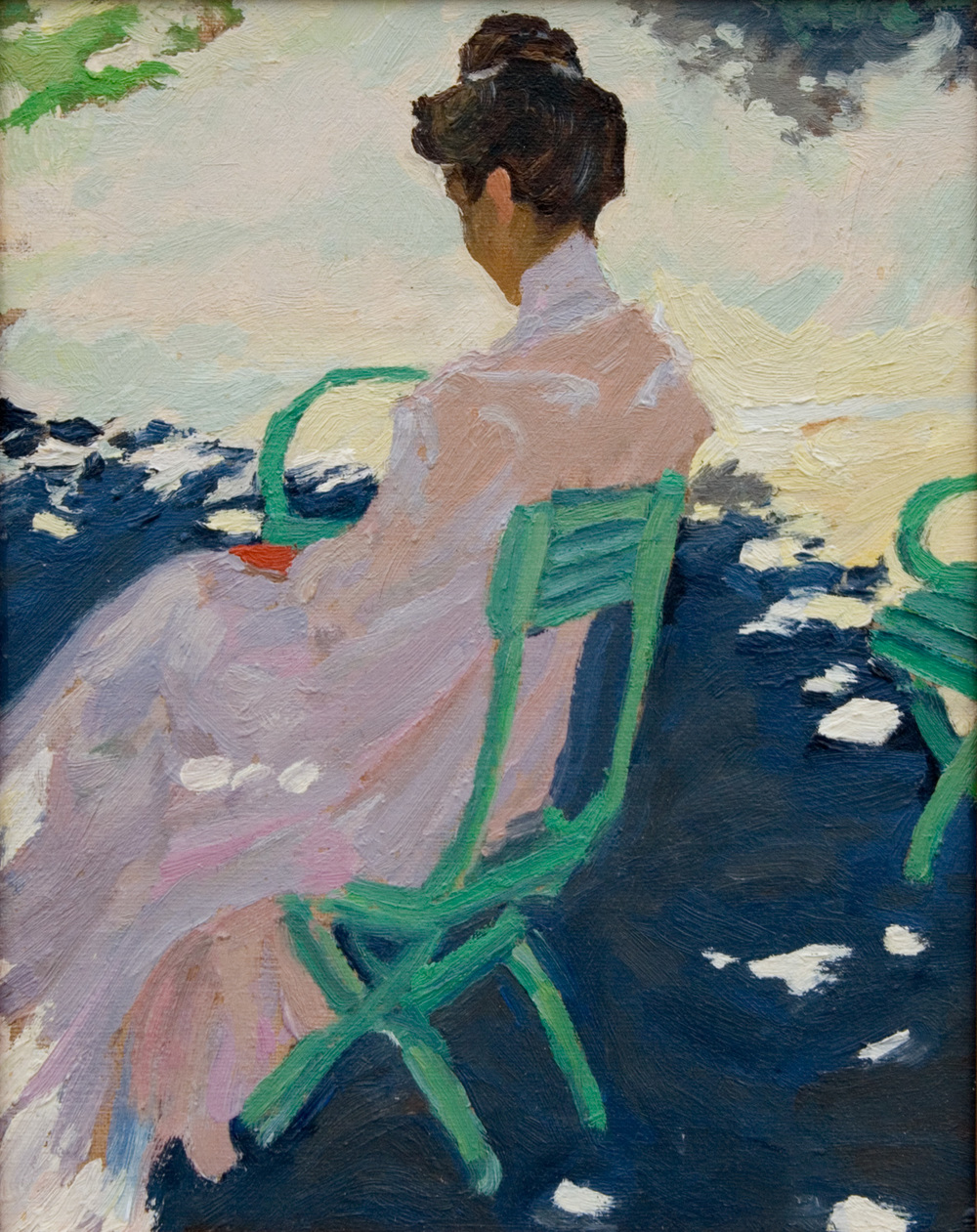 "Woman in a Chair   after  Grigory Bobrovsky    Oil on Panel   8"" X 10""   2013"