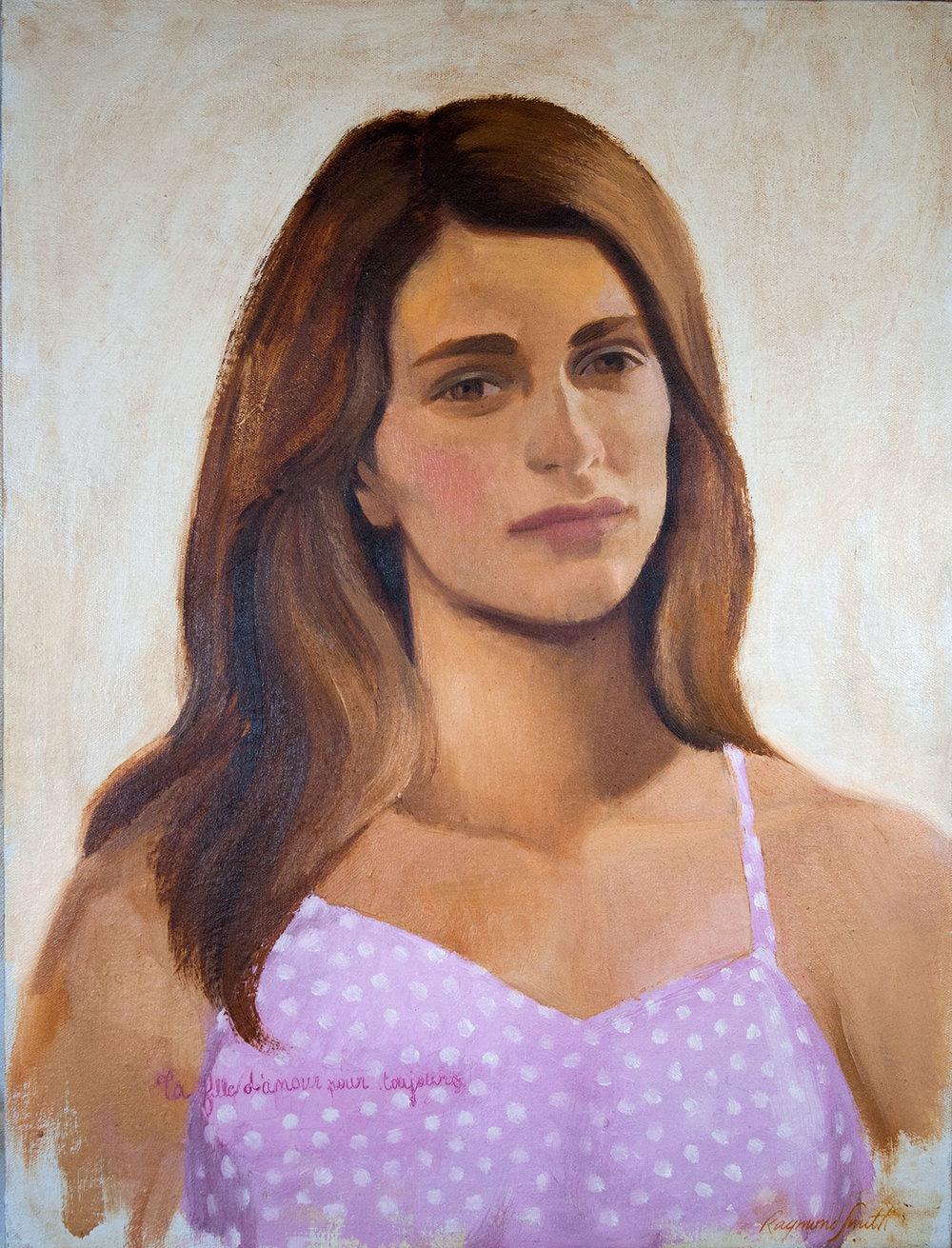 """Loussine   T a fille d'amour pour toujours   Oil/panel 18"""" X 24""""  2011/2016  Collection of Antoine Schapira"""