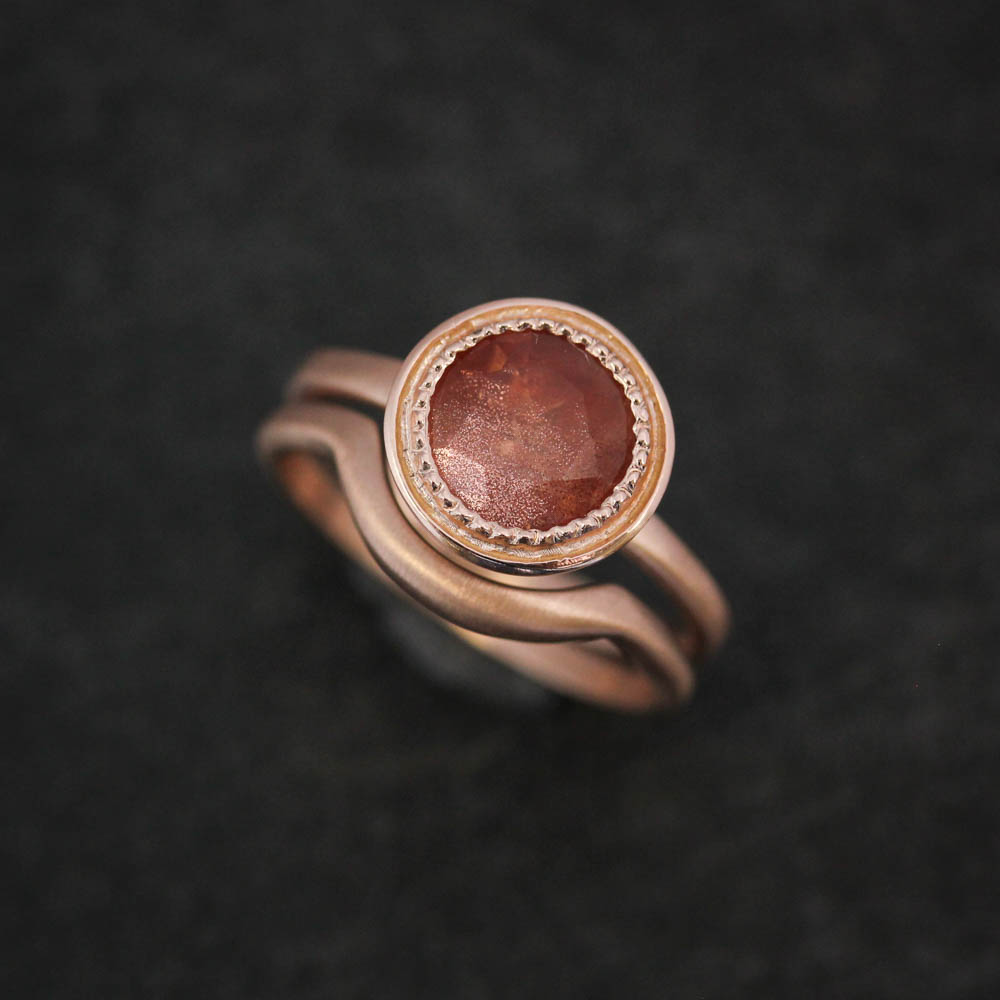 oxidized solar silver gold sterling sunstone engagement sun ring stone wind rings shop