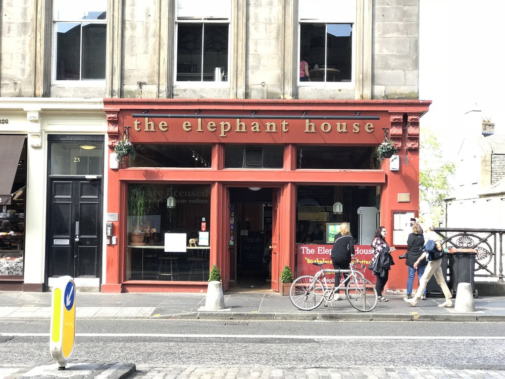 the elephant house.  Birthplace of Harry Potter.