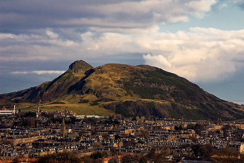 Arthur's Seat. A child could climb this easily.