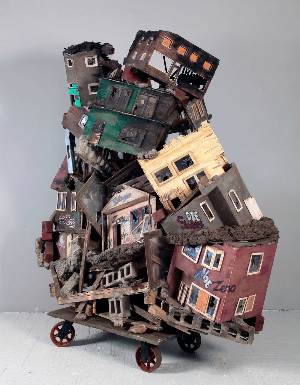"""Beautiful Homes and Gardens"" sculpture by Sandra Osip"