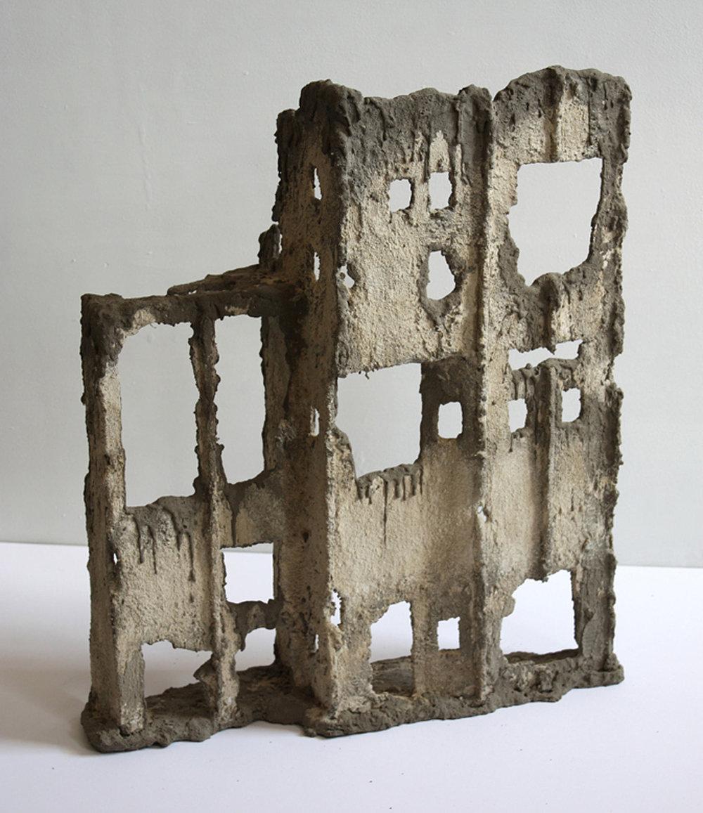 "Ruins, 2017  25""x23""x9"""