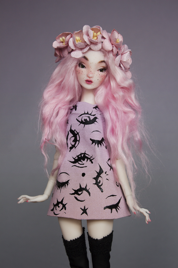 OOAK Pidgin - Pink Eye - Available - SOLD