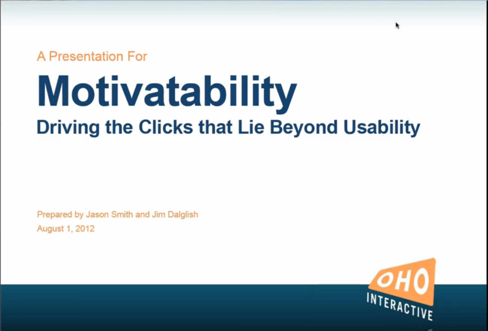 This is a Motivatability webinar led by Jason Smith and me.