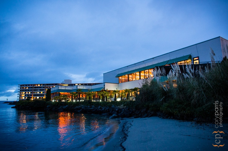 Evening view of the Ballard Bay Club from the beach | Cory Parris Photography