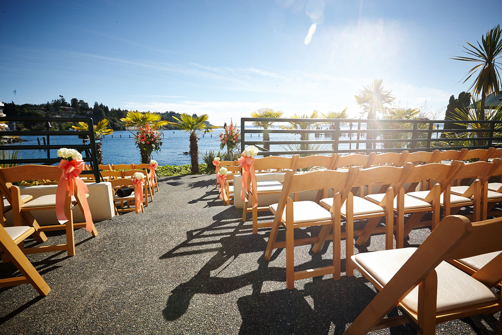 Waterfront Outdoor Ceremony at the Ballard Bay Club