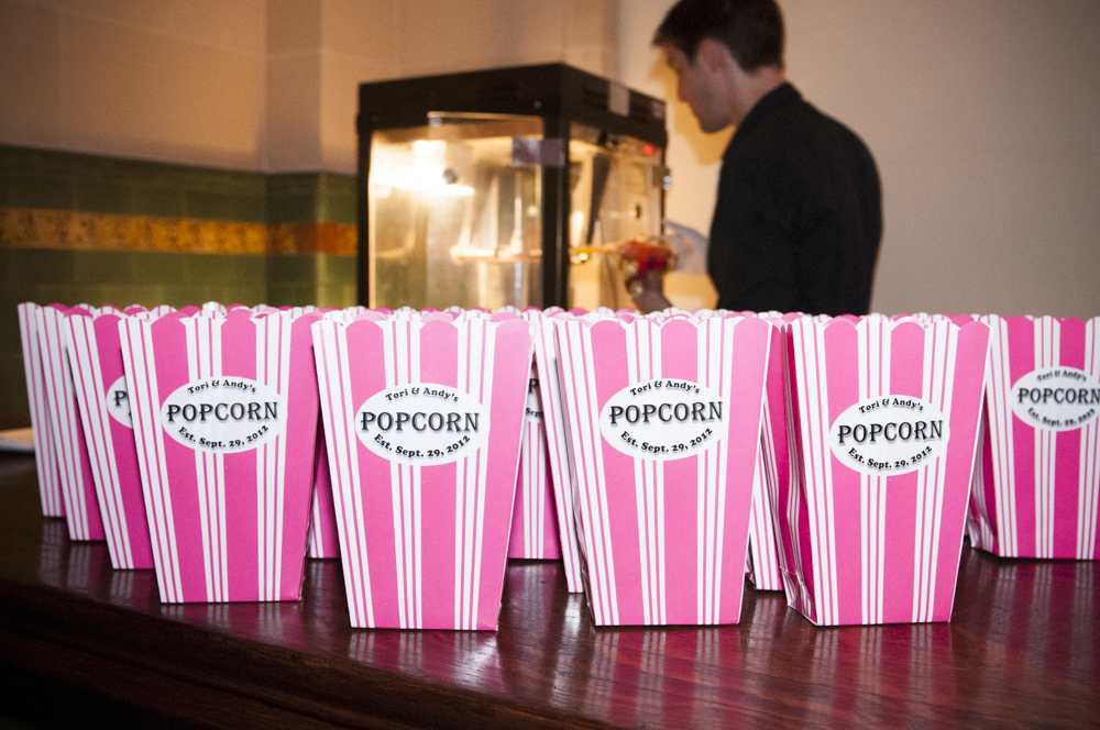 Personalized Popcorn for this Great Hall Wedding
