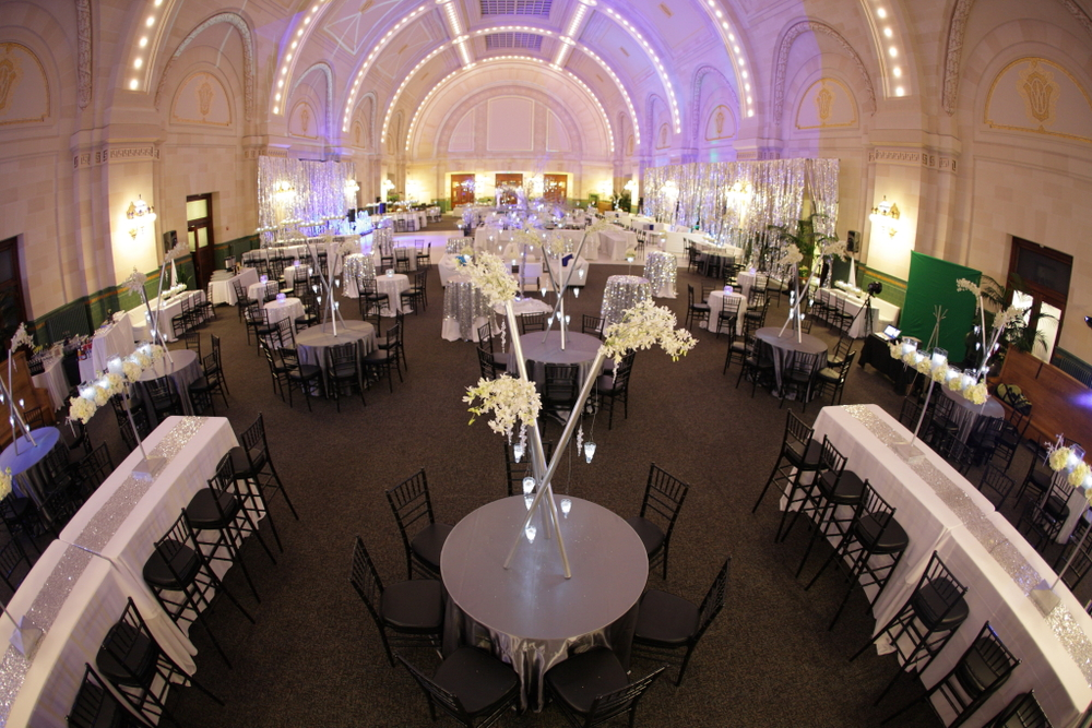 Flexible event space allows for soft seating, full dining, dance floors, or any layout you can imagine for your special event