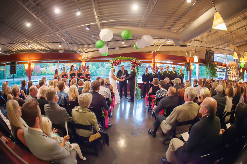 Waterfront Indoor Wedding Ceremony at The Canal
