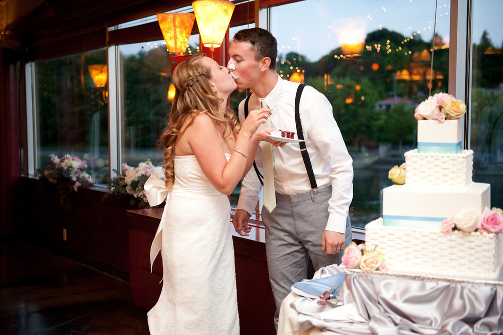 The sweetest couple at this Canal wedding captured by  Meredith McKee Photography