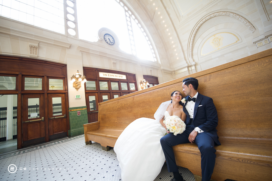 Great Hall at Union Station wedding captured by C2 Photography
