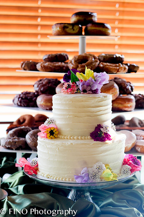 wedding cake by jewel hospitality and donuts