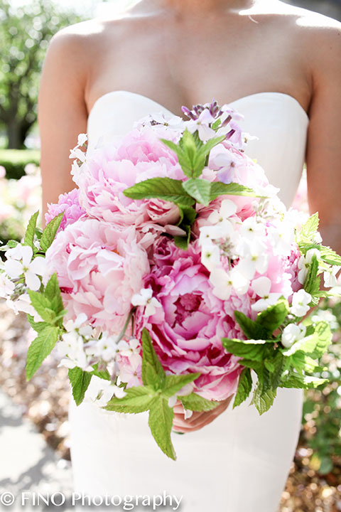 pink peonies summer bouquet