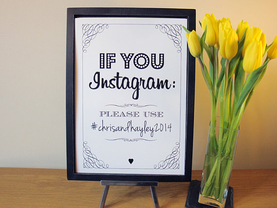 Instagram sign via HelloMyGem on Etsy