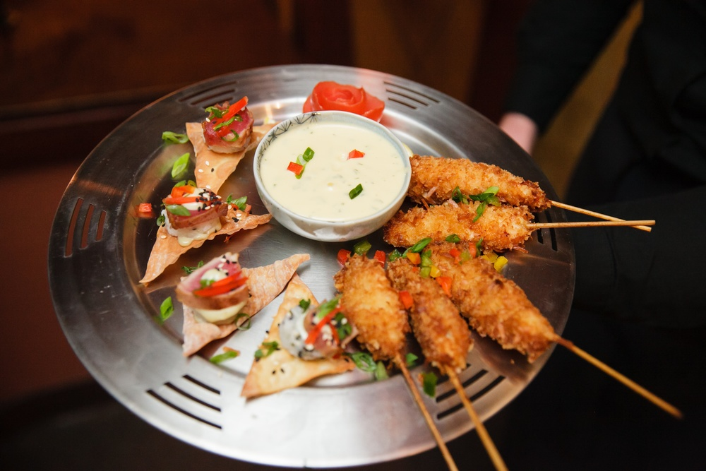 Tuna Wonton & Coconut Chicken Skewer | Red Sparrow Photography