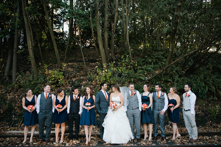 Wedding party outside the Canal | Meredith McKee Photography