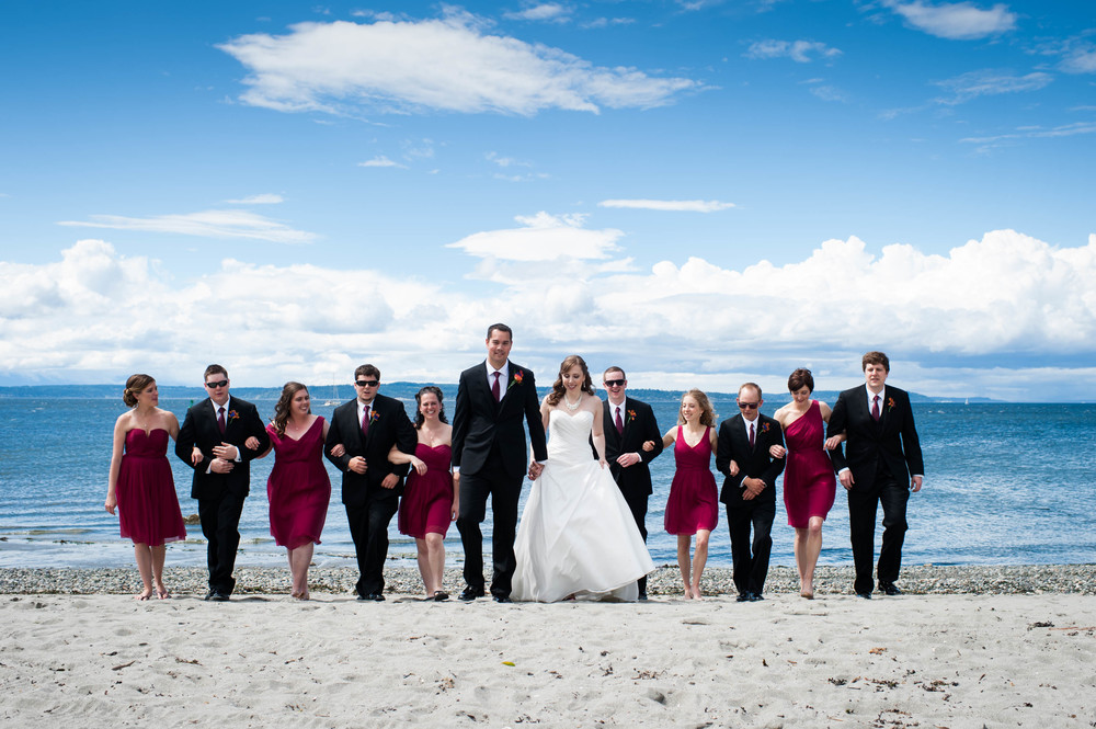 Wedding Party at Golden Gardens, a beach less than a mile from the Canal and the Ballard Bay Club! |  Natalie Hilliard Photography