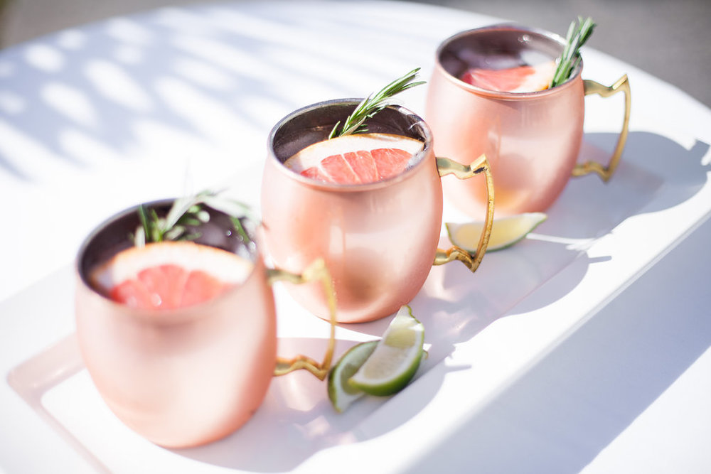 Signature wedding drink: moscow mule