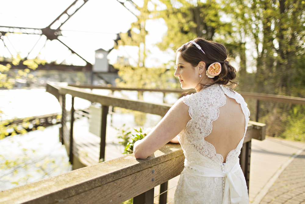 Bride outside the Canal