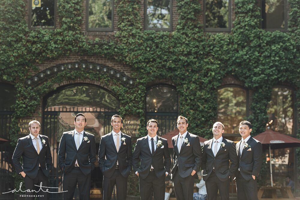 Groomsmen in Pioneer Square