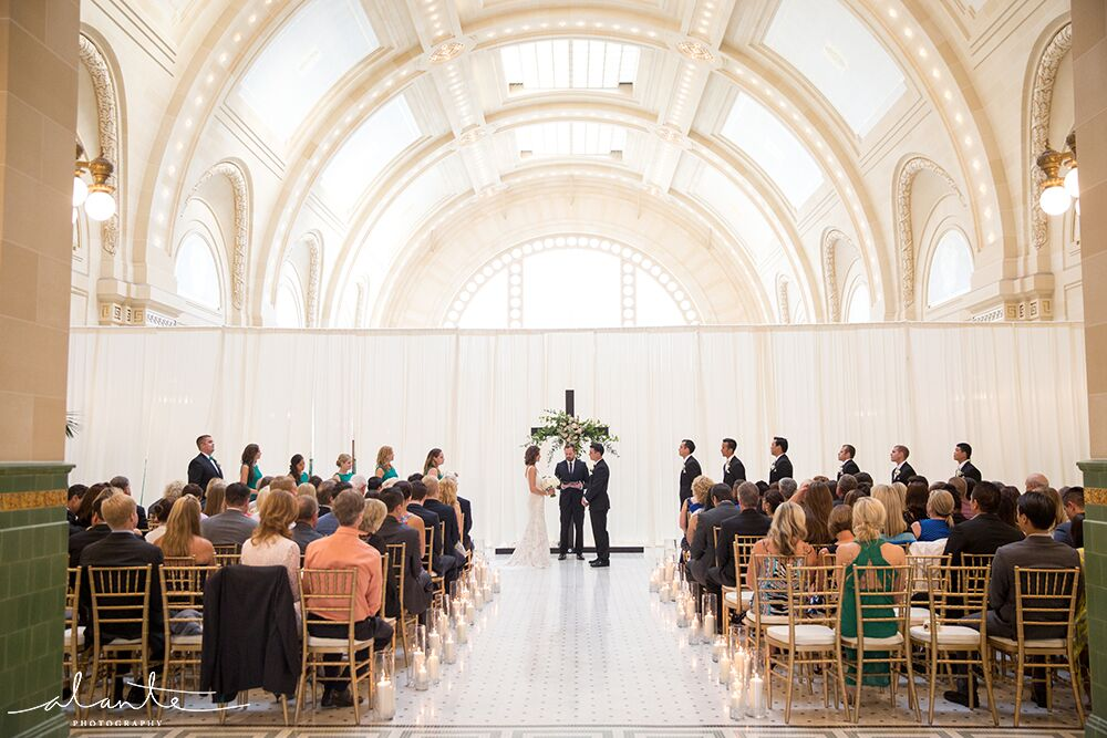 Great Hall at Union Station Ceremony Setup