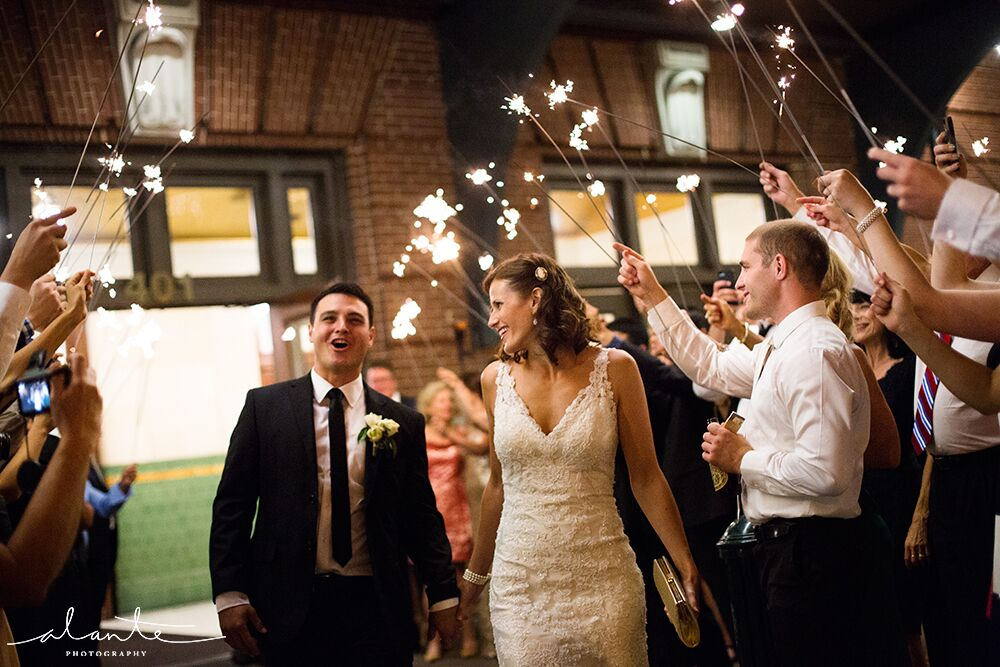Sparkler sendoff at the Great Hall