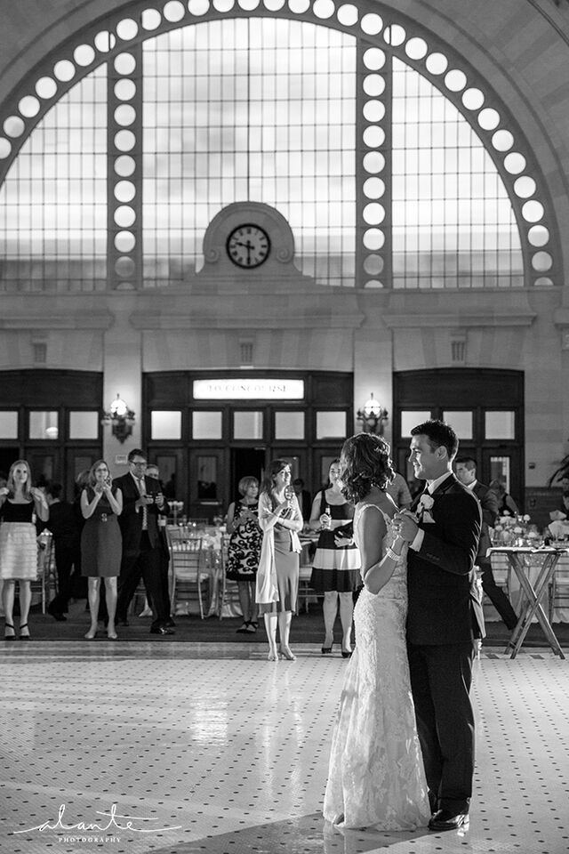Bride and groom's first dance at the Great Hall