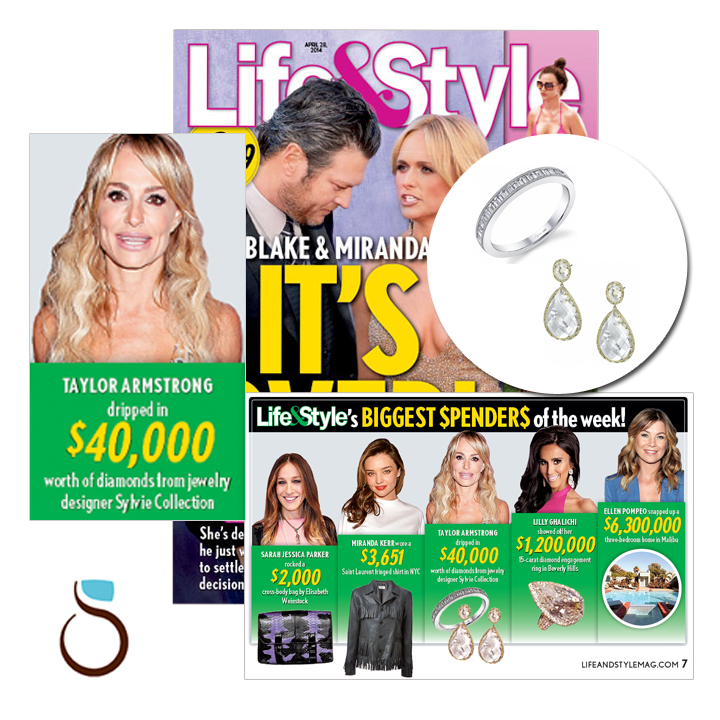 """Check outSylvie Collectionin the """"Biggest Spenders of the Week"""" section in this week's issue ofLife & Style Magazine! April 2014."""