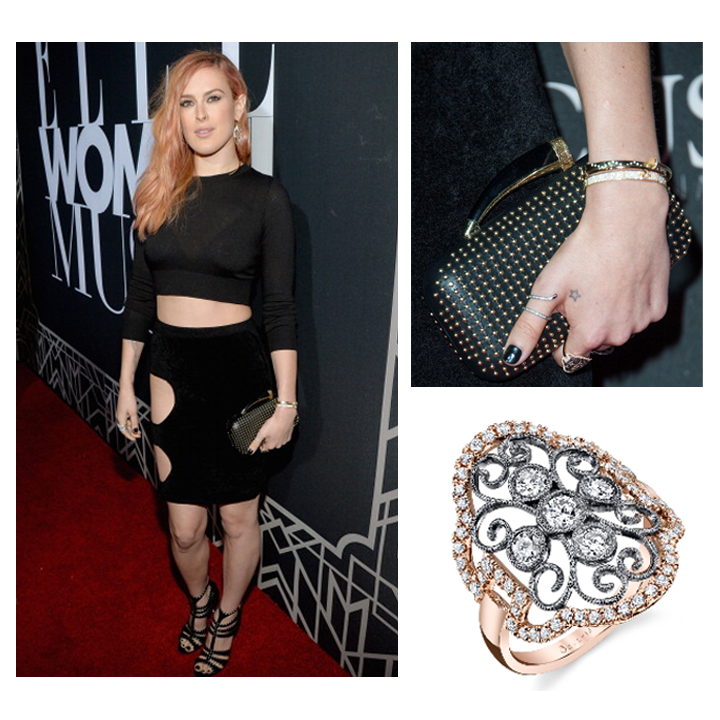 Actress, Rumer Willis rocked a Sylvie Collection Diamond ring at Elle Magazine's Women in Music Concert! May 2014