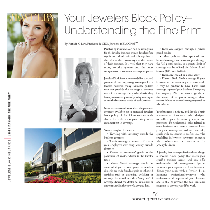 Learn more about Jewelers unBLOCKed's Jewelers Block Policy in the Spring 2014 issue of The Jewelry Book! May 2014