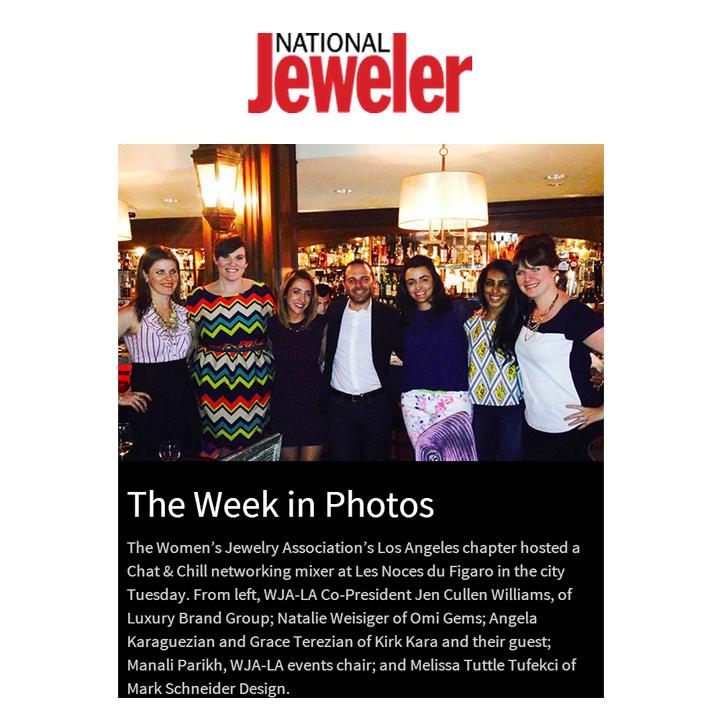 "Check out LBG's very own Managing Director, Jen Cullen Williams featured on National Jeweler in their ""The Week in Photos"" recap!"